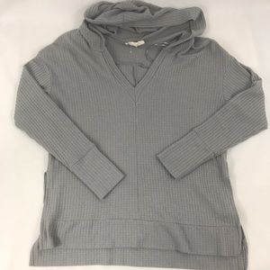 onetheland Sweaters - Onetheland Gray Knitted Sweater with Hood Small
